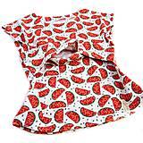 Tehotenské oblečenie - BIO tričko na dojčenie - melóniky - 9777932_