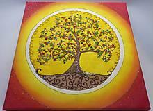 Obrazy - Strom života (piesková mandala) - 9777482_