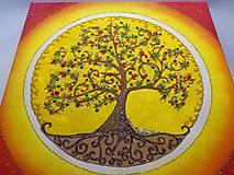 Obrazy - Strom života (piesková mandala) - 9777484_