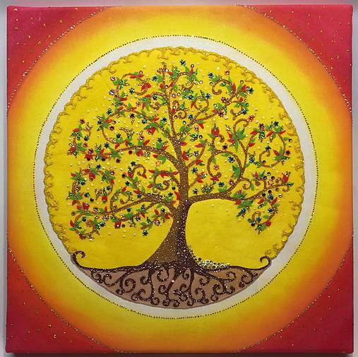 Strom života (piesková mandala)