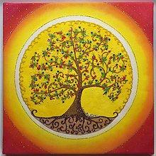 Obrazy - Strom života (piesková mandala) - 9777481_