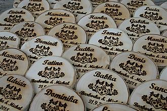 Darčeky pre svadobčanov - magnetka drevená-svadobná 20 - 9776534_