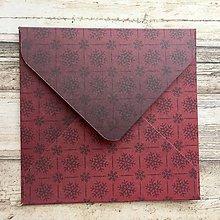 Papiernictvo - Obálka vzorovaná 9x9 cm - 9777882_