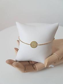 Náramky - Náramok s personalizovaným medailónom - 9776494_