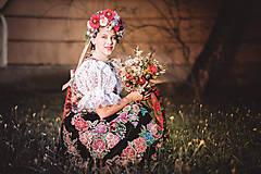 Ozdoby do vlasov - Kvetinová Parta ,,ľudová,, - 9776671_