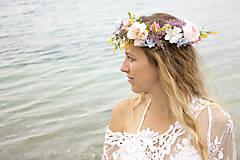 Ozdoby do vlasov - Kvetinový venček ,,cukríkový,, - 9776890_
