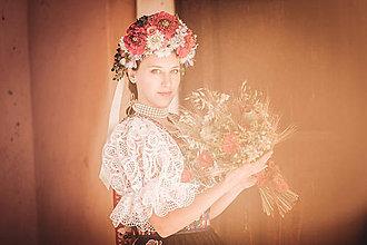 Ozdoby do vlasov - Kvetinová Parta ,,ľudová,, - 9776670_