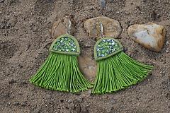 Náušnice - Zelené náušnice - Medúzy - 9778419_