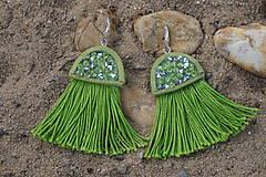 Náušnice - Zelené náušnice - Medúzy - 9778421_
