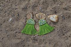 Náušnice - Zelené náušnice - Medúzy - 9778424_