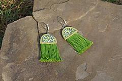 Náušnice - Zelené náušnice - Medúzy - 9778426_
