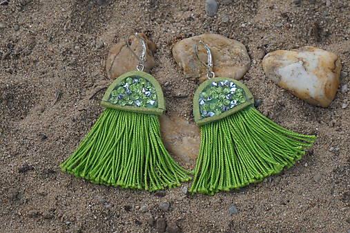 Zelené náušnice - Medúzy
