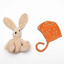 Detské čiapky - čepček pre bábätko z biobavlny - 9778878_
