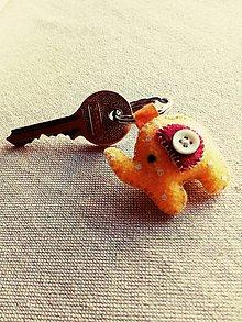 Kľúčenky - Kľúčenka sloník - 9778872_