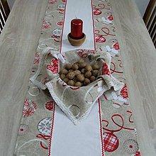 Úžitkový textil - Severské Vianoce(2) - obrus stredový dlhý (130 cm x 40 cm) - 9776287_
