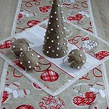Úžitkový textil - Severské Vianoce - obrus štvorec 44x44 - 9776379_