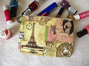 Taštičky - Taštička na mobil - Paříž kdysi - 9777597_
