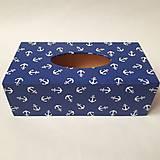 Krabičky - Zásobník na vreckovky v námorníckom štýle - 9778747_