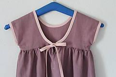 """Detské oblečenie - Low Back šaty """"Ľanové"""" dlhé - 9778328_"""