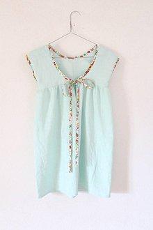 """Detské oblečenie - Low Back šaty """"Ľanové"""" krátke - 9778112_"""