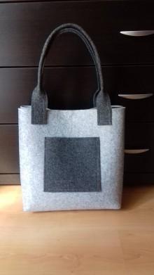 Veľké tašky - Filcová kabelka 25 - 9776546_