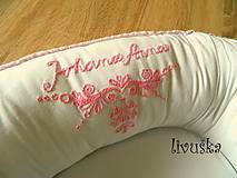 Textil - Vyšívané hniezdo - ružové - 9781360_