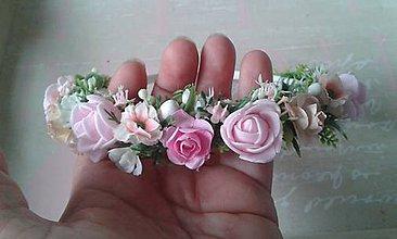 Ozdoby do vlasov - Čelenka plná ružičiek - 9781060_