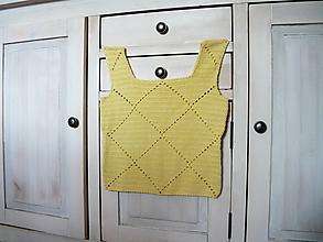 Tielka - Háčkované tielko Žlté (po pupok :) - 9780695_