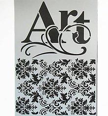 Pomôcky/Nástroje - Šablóna Stamperia - 20x30 cm - art, tapeta, ornament, vlnovka - 9779838_