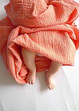 Textil - JEDNOFAREBNÁ  gázovinová prikrývka - farba na želanie - 9779350_