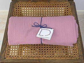 Textil - PURE  gázovinová prikrývka staroružovo-fialová - 9779367_