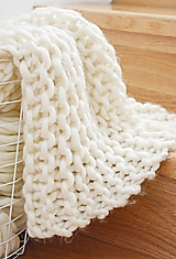 Úžitkový textil - Vlnená pletená deka - prírodná - 9779714_