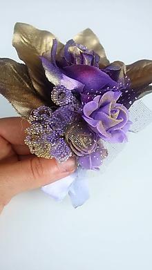 Pierka - Svadobné pierko ,,Fialová ruža ,, - 9780128_