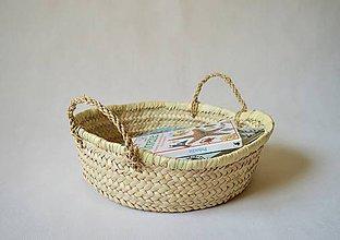 Košíky - Pletený palmový kôšík (simple living) - 9780312_