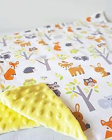 Textil - detská deka zvieratká z lesa - 9779586_