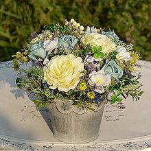 Dekorácie - Modrá dekorácia na stôl - 9779042_