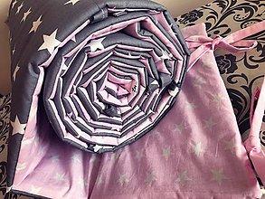 Textil - Mantinel tenký - 360x30 (Ružová) - 9781297_