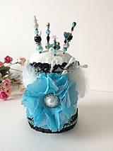 Dekorácie - Špendlíkovníček modráčik I.- handmade dekorácia - 9780902_