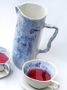 Nádoby - čajník , džbán modrý - 9779390_