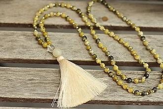 Náhrdelníky - Mala náhrdelník z minerálu tyrkys žltý - 9780105_