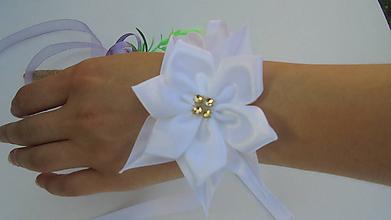 Náramky - Svadobný náramok,biela klasika - 9781018_