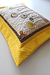 Úžitkový textil - V krajine zázrakov...žlto - hnedá verzia - vankúše :) - 9779823_