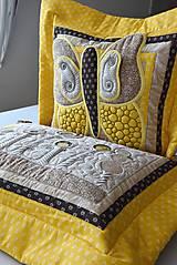 Úžitkový textil - V krajine zázrakov...žlto - hnedá verzia - vankúše :) - 9779828_