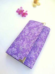 Peňaženky - Peňaženka- fialové kvety - 9783790_