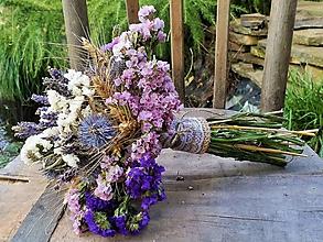 Dekorácie - Lúčna kytica zo sušených kvietkov - 9782214_