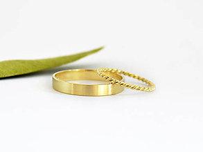 Prstene - 585/14k zlaté snubné prstene , obrúčky - 9783826_