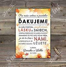 Grafika - Ďakovná kartička v jesennom motíve - 9783292_