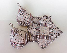 Úžitkový textil - Súprava chňapky + ušká - 9783679_