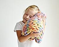 """Úžitkový textil - Chunky detská deka """"Rainbow"""" - 100 % pravá Merino vlna - 9782274_"""