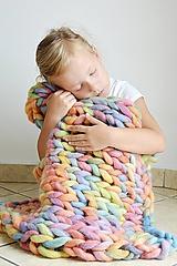 """Úžitkový textil - Chunky detská deka """"Rainbow"""" - 100 % pravá Merino vlna - 9782276_"""